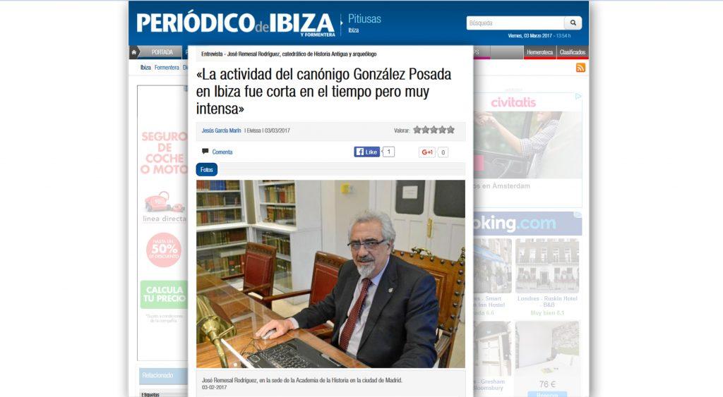 Dr. José Remesal/ El Periódico de Ibiza